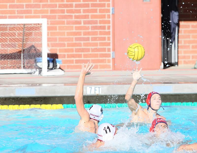 American River College utility player Stuart Samouville passes the ball to a teammate on October 21, 2015. ARC lost to Sierra 4-3 on its last possession. (Photo by Nicholas Corey)