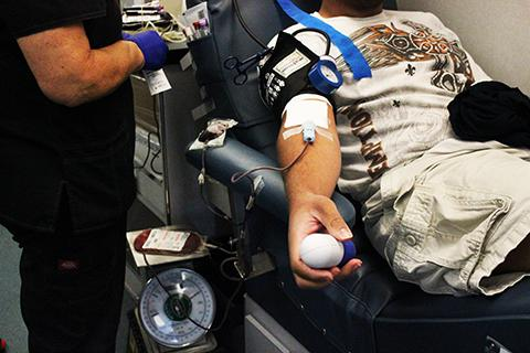 Four out of every 10 people in the United States are able to donate blood, yet only one in 10 actually does. (Photo by Ashley Nanfria)