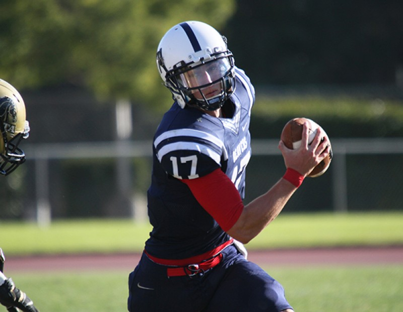 American River College quarterback Chris Guillen rushes the ball during the Gridiron Classic Bowl against San Joaquin Delta College on Saturday. ARC lost 24-17 in overtime. (Photo by Barbara Harvey)