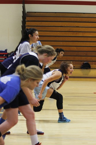 Members of American River College's women's basketball team prepare to run during practice on Dec. 2 2015. ARC has started its 2015-2016 season 6-1 after it started 0-7 a season ago. (Photo by Kevin Sheridan)