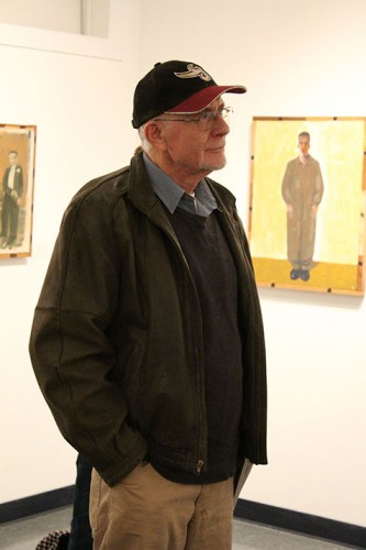 Influential local artist and retired Sacramento State professor Jack Ogden attends the Kaneko Gallery reception featuring his artwork on Thursday, which is on display at American River College in from Jan. 14 through Feb. 10. (Photo by Timon Barkley)