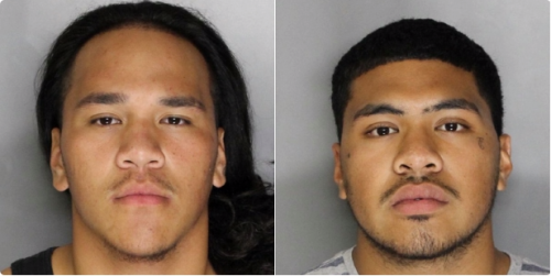 19-year-old Charlie Hota, left, and 19-year-old Tevita Kaihea, right, were both charged with attempted murder, discharge of a firearm with great bodily injury, participating in a criminal street gang and vehicle theft by the Sacramento Police Department in connection with the shooting at Sacramento City College on Sept. 3. The shooting, which left one victim dead, was the first in the history the Los Rios Community College District.  (Photo courtesy of the Sacramento Police Department)