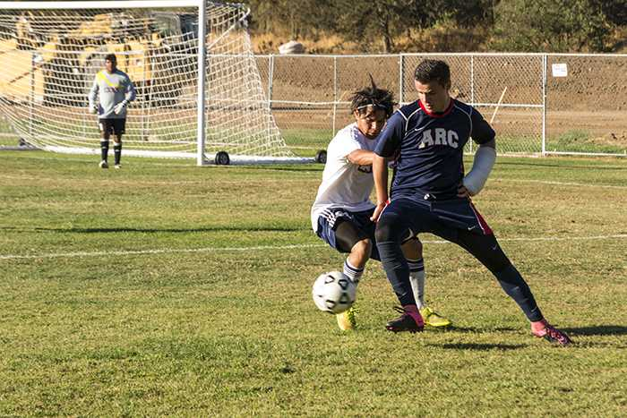 Hector Zavala playing for ARC's men's soccer team last semester. Head coach Paul Hansen remembered Zavala as a