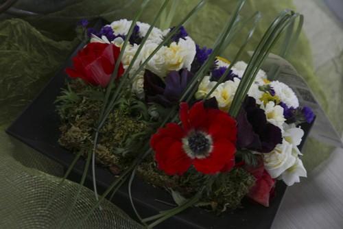 Biedermeier's were on sale at ARC's Horticulture Department floral sale on Thursday. (Photo by Matthew Peirson)