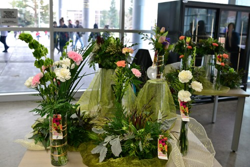 Floral display at Floral sale at the American River College student sale on Feb. 4, 2016. (Photo by Joe Padilla)