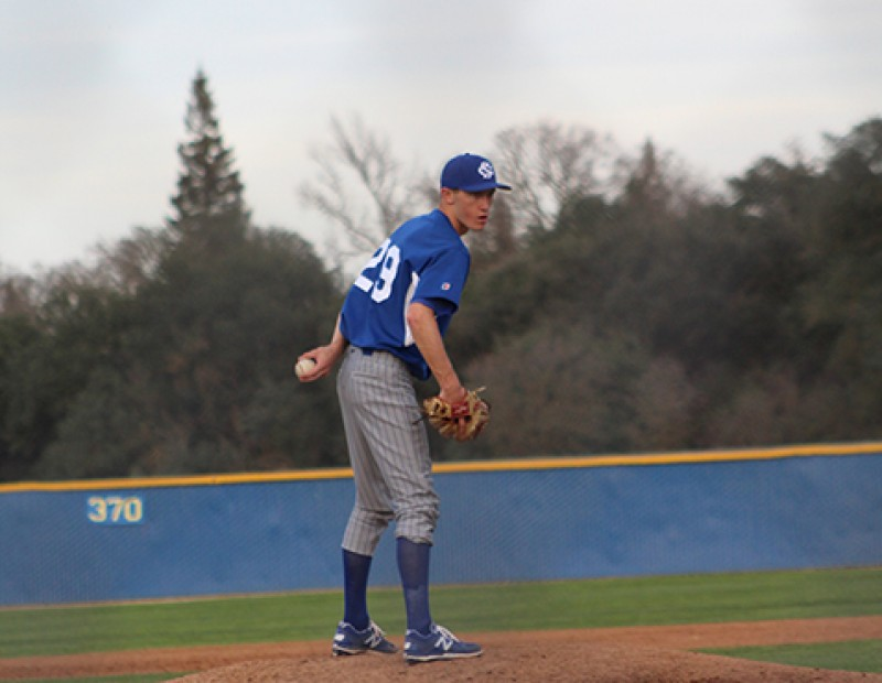 Solano pitcher Chase Spinning stands on the mound during the game against ARC. ARC lost 6-5. (Photo by Mack Ervin III)