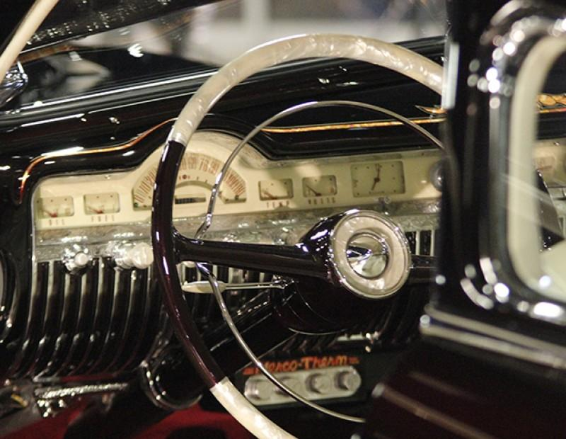 The dashboard of a heavily customized Cadillac at the Sacramento Auto Rama held at Cal Expo on Feb.12, 2016. (Photos by Matthew Nobert)
