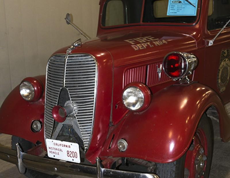 Fire truck from days gone by at Sacramento's Autorama at Cal Expo on Feb.12, 2016. (Photo by Joe Padilla)
