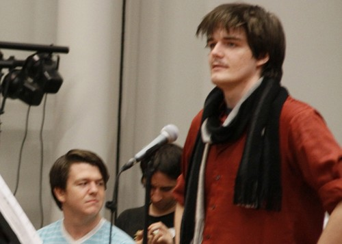 Actor and former ARC student Christian Brian Hirtzel (standing right) rehearsing for ARC's production of Young Frankenstein. Hirtzel was found guilty on four counts relating to sexual extortion and will be sentenced on August 2. (File Photo)