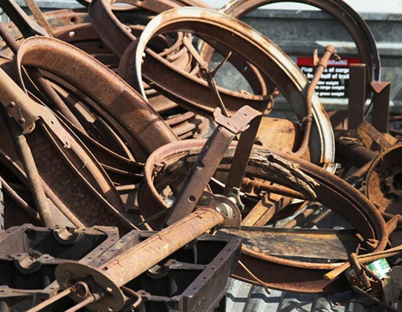 A trailer full of rusty car parts at the 56th annual Northern California Regional Group Horseless Carriage Club of America swap meet held at Amerian River College on April 24, 2016. The swap meet a range of car parts and accerories on sale. (Photo by Matthew Nobert)