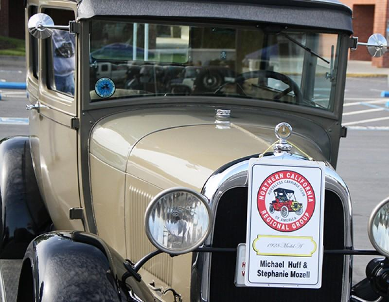 One of the Northern California Regional Group Horseless Carriage Club of America members 1928 Ford Model A parked up at the 56th annual NCRHCCA swap meet. The NCRHCCA brought multiple vintage cars to the swap meet including two Ford Model T's