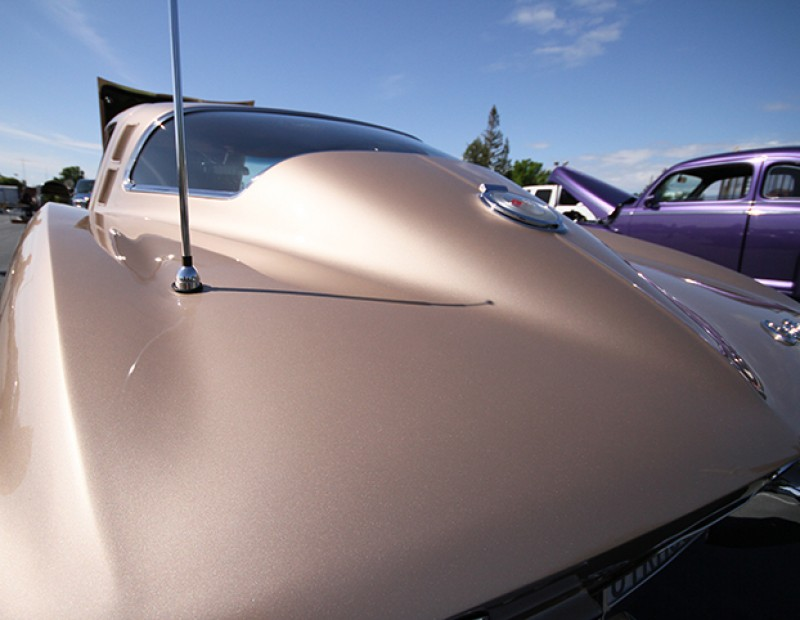 A 1964 Corvette on sale for $68,500 at the 56th annual Northern California Regional Group Horseless Carriage Club of America swap meet held at American River College on April 24, 2016. The Corvette was one of the most expenisve items on sale at the swap meet. (Photo by Matthew Nobert)