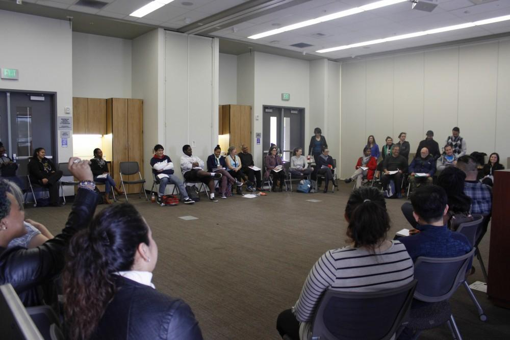 Students+gather+for+a+brave+space+where+microagressions+are+discussed.+Brave+spaces+are+one+of+the+strategies+American+River+College+is+employing+to+close+the+race+performance+gap.++%28Photo+by+Kyle+Elsasser%29
