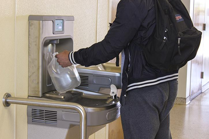 filtered water bottle refill stations installed at arc
