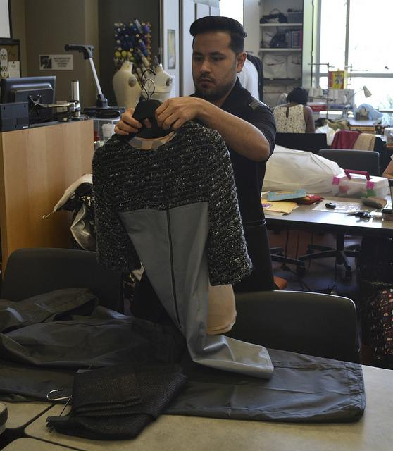 Designer and American River College fashion student Saul Latvanen. Latvanen has debuted collections in two ARC fashion shows as well as Sacramento Fashion Week, LA Fashion Week, and New York Fashion Week. (Photo by Sharriyona Platt)