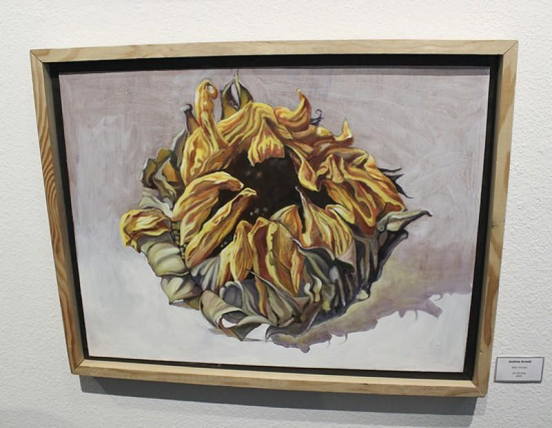 """After Vincent"" by Andrea Arnott being displayed at the student art show at the James Kaneko Gallery at American River College in Sacramento, California on April 26. The show runs from April 25 to May 11. (Photo by Hannah Darden)"
