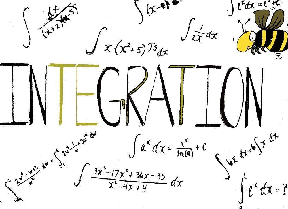 The+fifth+annual+integration+bee+will+be+held+April+22+in+Raef+Hall.+%28Illustration+by+Sharriyonna+Platt+and+Allante+Morris%29