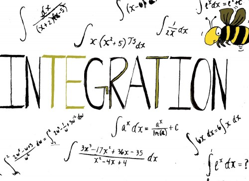 The fifth annual integration bee will be held April 22 in Raef Hall. (Illustration by Sharriyonna Platt and Allante Morris)