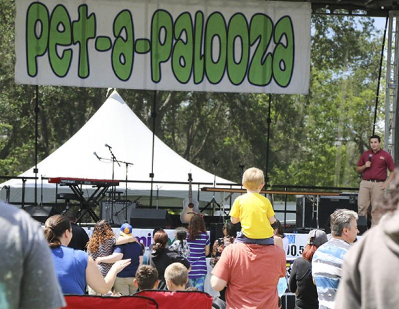 An Exotic Animal show held by the Wild Things Inc. was one of the many preformances on staget at Pet-A-Palooza on March 23, 2016.  At Rusch Park in Citrus Heights, California, families gathered around the stage to relax and watch the preformances. (Photo by Bailey Carpenter)