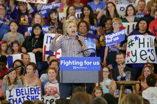 Clinton holds rally at Sacramento City College