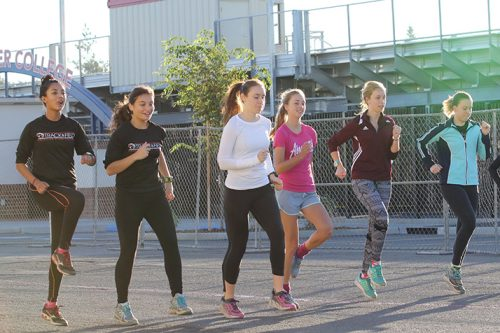 American River College's women's cross country team will be looking to win their 3rd consecutive Big 8 title this season. (Photo by Cheyenne Drury)