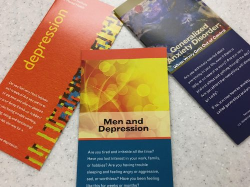 Seeking assistance for mental health problems can start with something as simple as picking up a brochure at ARC's health clinic. (Photo by Shiavon Chatman)