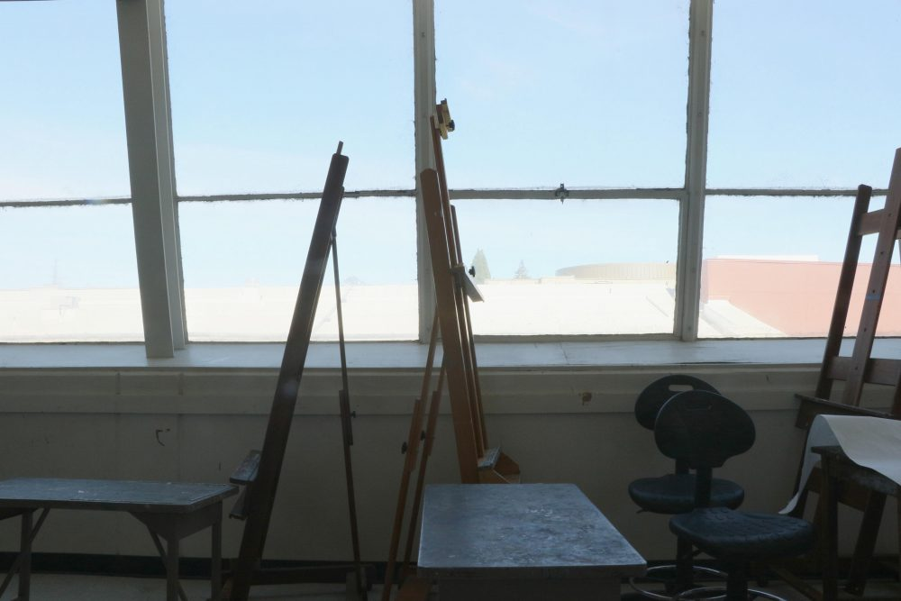 The art loft at American River College is now available to students that are members of the Art Club.  (Photo by Lidiya Grib)