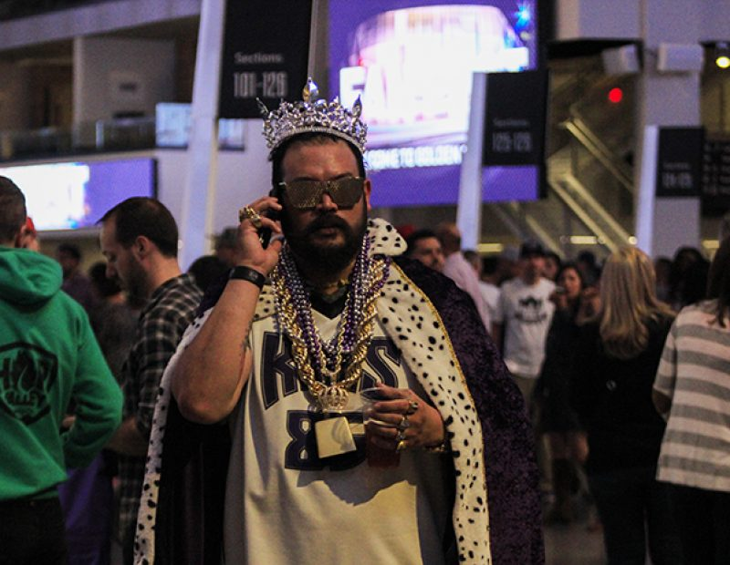 "One of the many fans that showed up the Sacramento King's ""Fan Fest"" at the Golden 1 Center on Oct. 1 (Photo by Luis Gael Jimenez)"