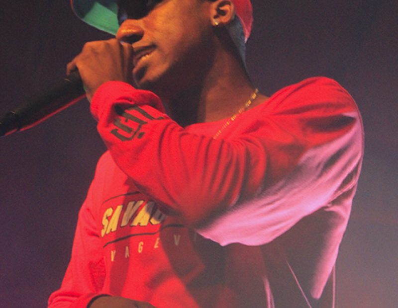 "Rapper Hopsin performs at Ace of Spades in Sacramento, California on Oct. 8 as part of his ""SavageVille"" tour (Photo by Luis Gael Jimenez)"