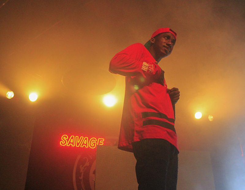 "Rapper Hopsin during a performance as part of his ""SavageVille"" tour in Sacramento, California on Oct. 8 (Photo by Luis Gael Jimenez)"