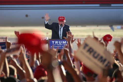 President Donald Trump speaks at a rally in Sacramento, California on June 1, 2016. (File Photo)