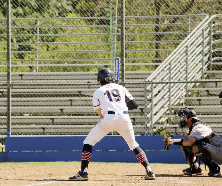 Kyle Beardsley prepares to bat at the American River College baseball game against Sacramento City College on March 23. (Photo by Mychael Jones)