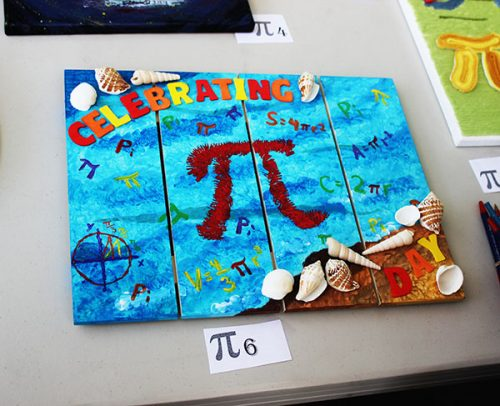 Pi Day art at ARC's Pi Day event on March 14, 2017. (Photo by John Ennis)