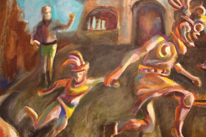 Artwork being showcased in the Kaneko gallery. (Photo by T.J. Martinez)