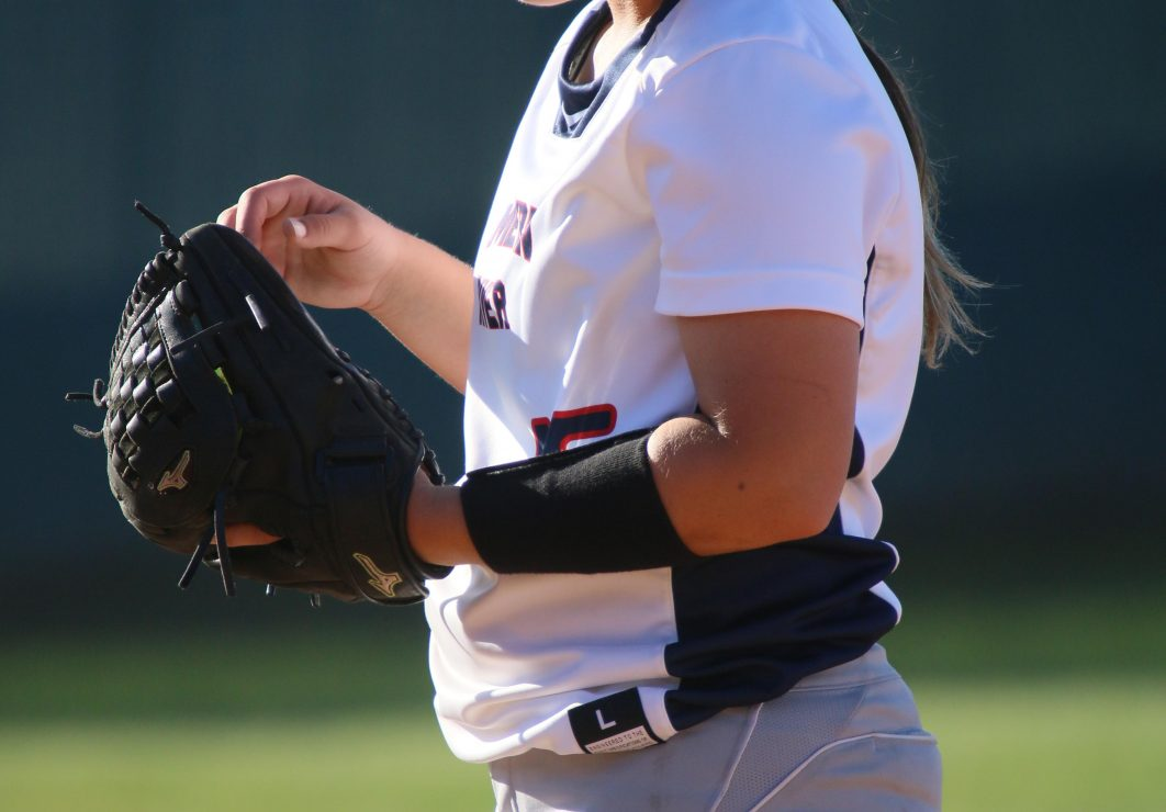 ARC pitcher Haley Dosher stands on the field. (photo gallery by Lidiya Grib)