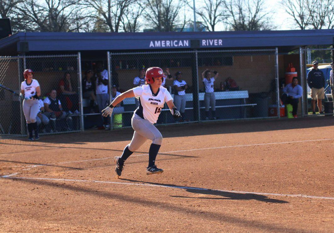 ARC batter Haley Dosher runs to the next base. (Photo Gallery by Lidiya Grib)