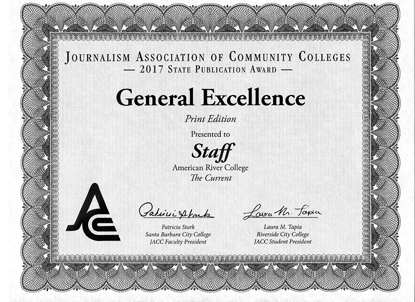 American River College won 18 awards during the annual Journalism Association of Community Colleges (JACC) State Convention over the weekend of March 30, to April 1, in Sacramento. (Photo by Mack Ervin III)