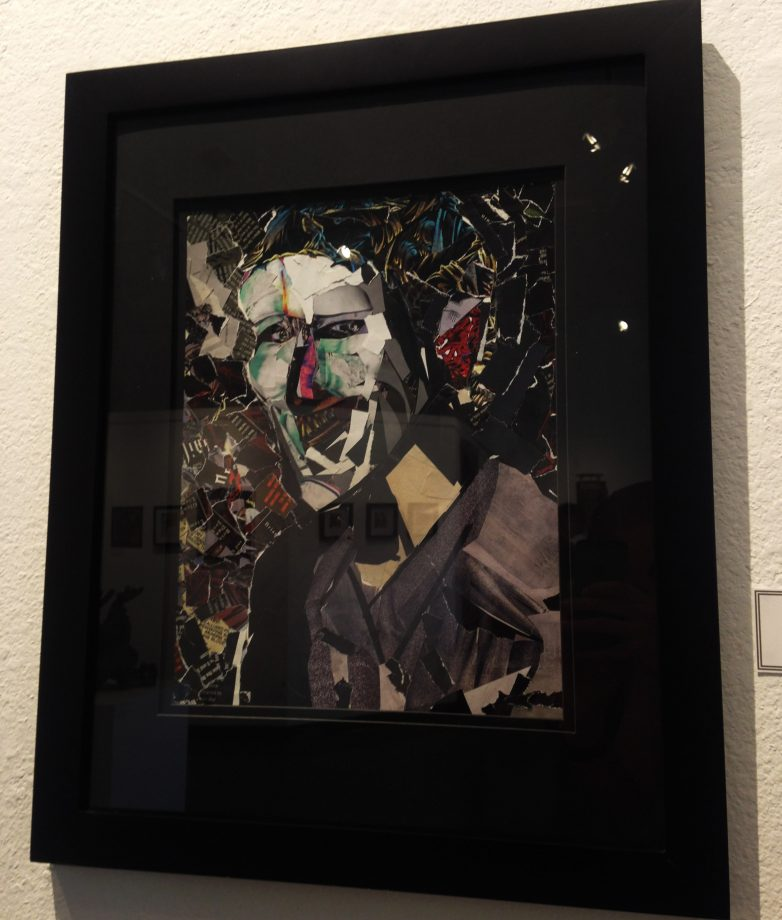 """Pieces of Myself"", mixed media collage by ARC student Spencer Ulbrich. (Photo by Lidiya Grib)"