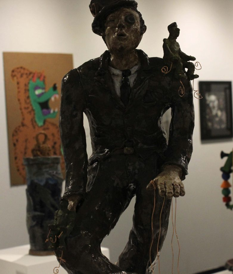 "Art work ""Oscar the Puppet Master"" by Trent Duaine Woolley. (photo by Lidiya Grib)"