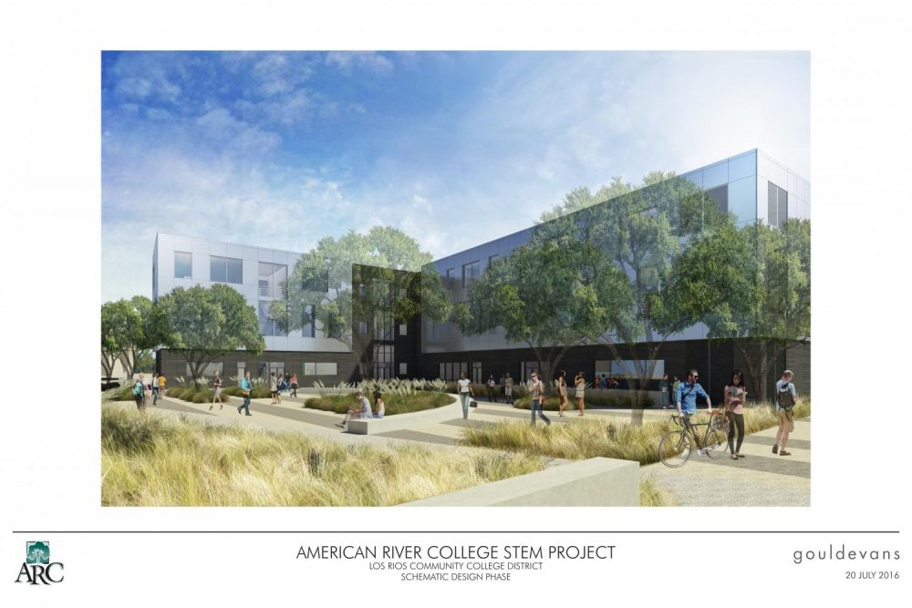 A schematic of the proposed STEM building that would be erected in the space where the Liberal Arts Building stands today. (Photo courtesy of Scott Crow)
