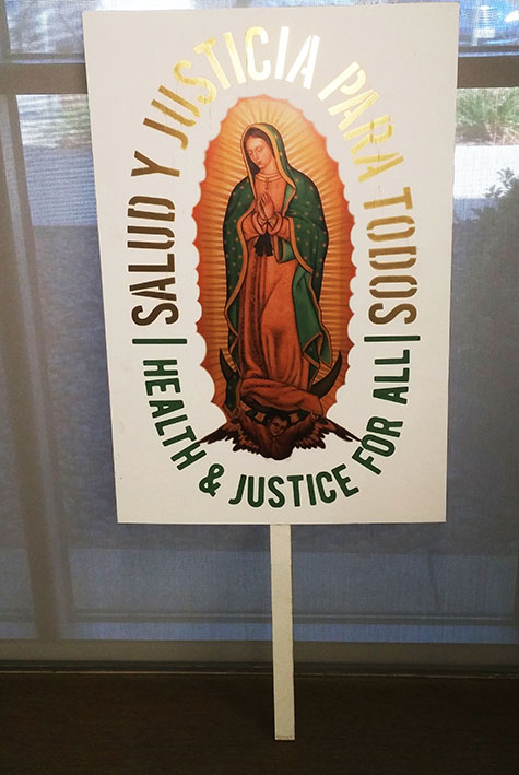 A poster displayed at the September 21, 2017 Coalition for Undocumented Students and Allies meeting. (Photo by John Ennis)