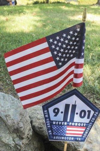 A tribute to those who lost their lives in the Sept. 11 terrorist attacks in 2001 sits on the campus of American River College on Sept. 11, 2017. 2,996 people lost their lives in the attacks and thousands more were injured making it the deadliest terrorist attack in recorded history. (Photo by Brienna Edwards)