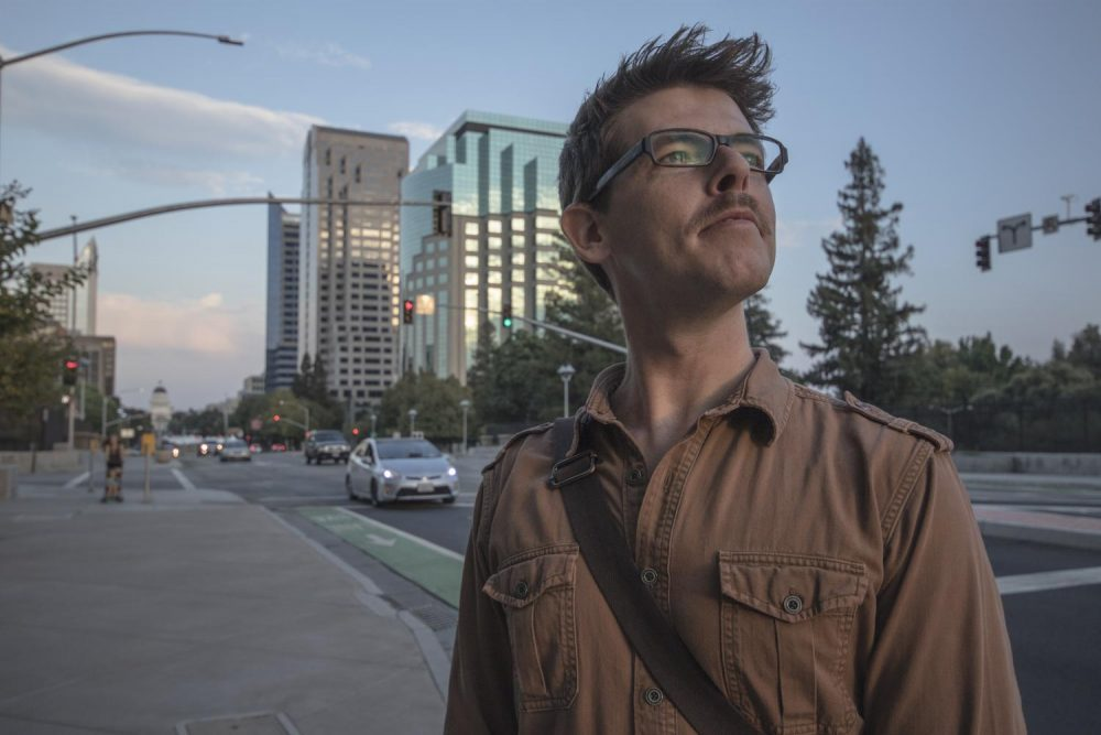 Journalist Dave Kempa stands near the Capitol Mall  in Sacramento, California on Sept. 7, 2017. Kempa is a winner of the Robert F. Kennedy Journalism Award and recently founded Voices: River City, a news website focused on
