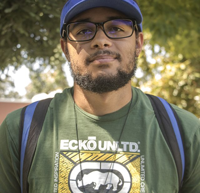 """I take the bus here. I don't think the bus is that busy. None of the construction bothers me. If people took public transport, it [the traffic]probably wouldn't be so bad."" -Jordon Vaughn 