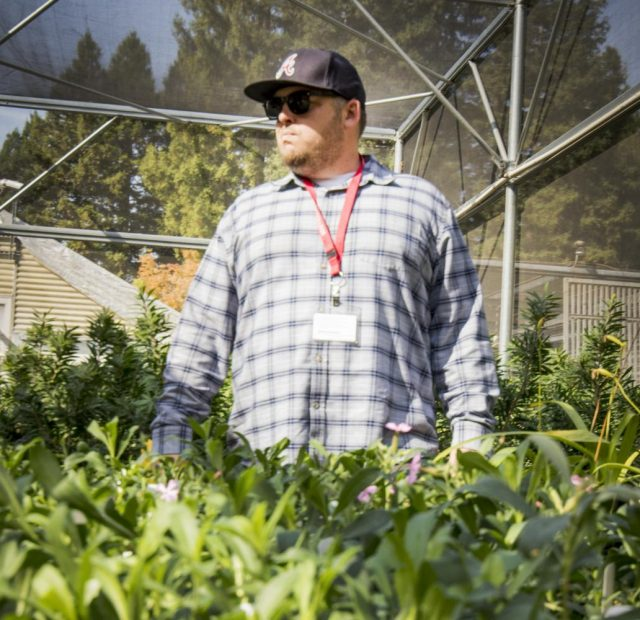 Professor Codd stands in the plant nursery in the Horticulture Department at American River College on Oct. 10, 2017.