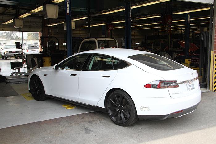 ARC Automotive Department's Tesla Model S. (Photo by John Ennis)