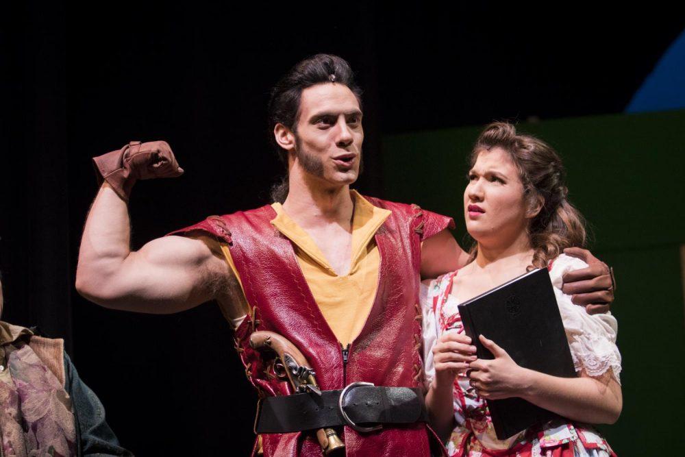 Chris+Sharpe+and+Elizabeth+Garbe+are+performing+as+Gaston+and+Belle+in+American+River+College%E2%80%99s+production+of+%E2%80%9CBeauty+and+the+Beast%E2%80%9D.%28Photos+by+Ashley+Hayes-Stone%29