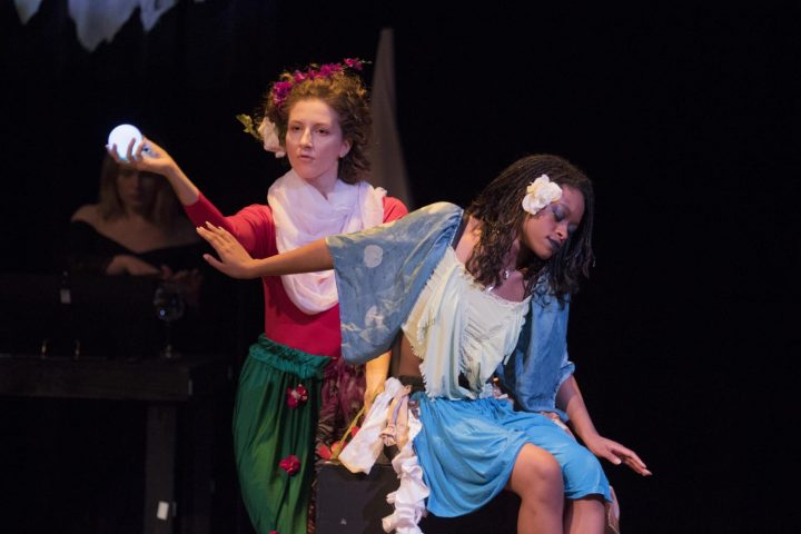 "Yekaterina Novskaya and Alexis Hines performs  in the American River College's production of ""Gumbo"" on Jan. 31 at American River College in Sacramento, California. (photo by Ashley Hayes-Stone)"