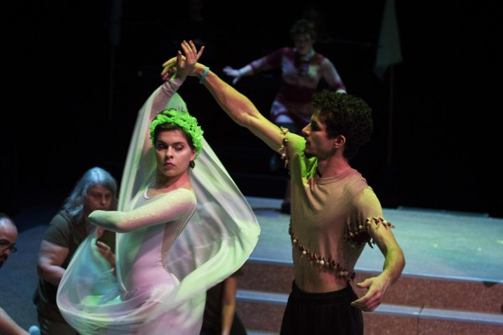 "Alberto Jimenez and Katerina Corazza performs a dance number in the American River College's production of ""Gumbo"" on Jan. 31 at American River College in Sacramento, California. (photo by Ashley Hayes-Stone)"