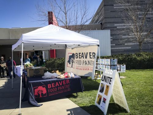 American River College UNITE program set up their Beaver Food Pantry for students on Feb. 21, 2018. (File Photo)